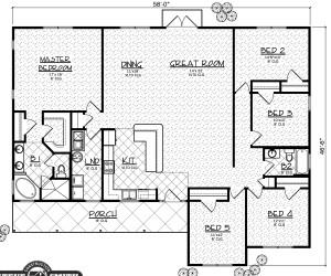 Montana II model floor plan